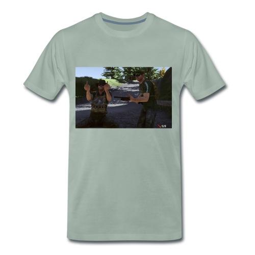 hero und falke 1080p jpg - Männer Premium T-Shirt