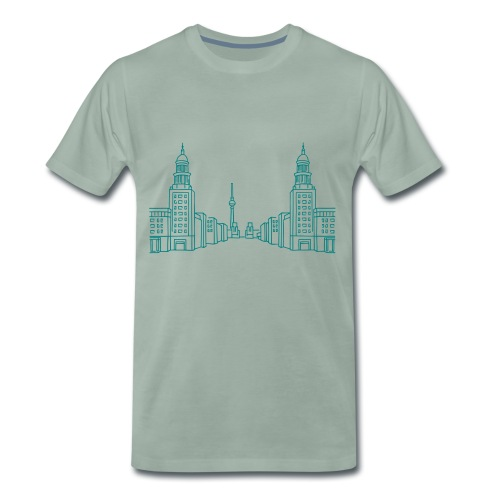 Frankfurter Tor Berlino - Maglietta Premium da uomo