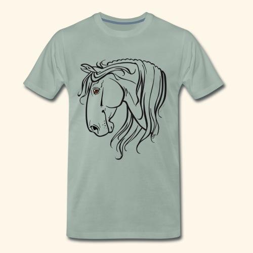Cheval espagnol (noir) - T-shirt Premium Homme