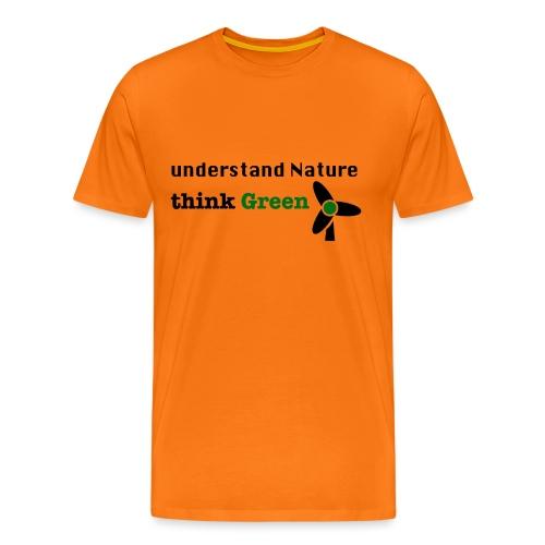 Understand Nature. Think Green! - Men's Premium T-Shirt