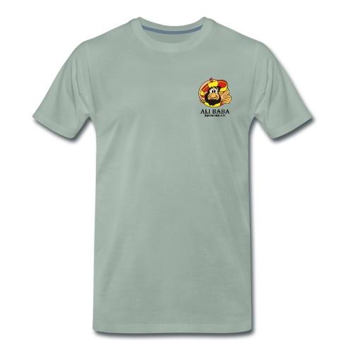 Textilien - Einzelner Druck mit schwarzer Schrift - Männer Premium T-Shirt