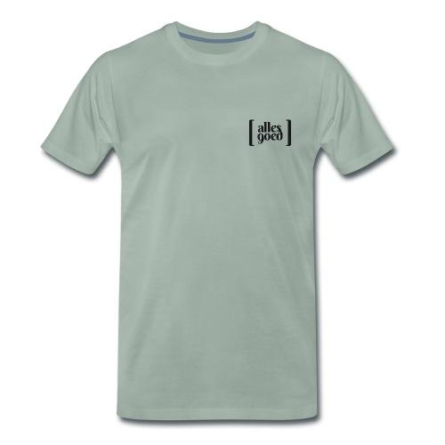 Alles Goed logo zwart - Mannen Premium T-shirt