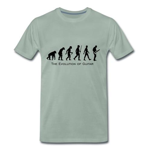 The Evolution Of Guitar - Camiseta premium hombre