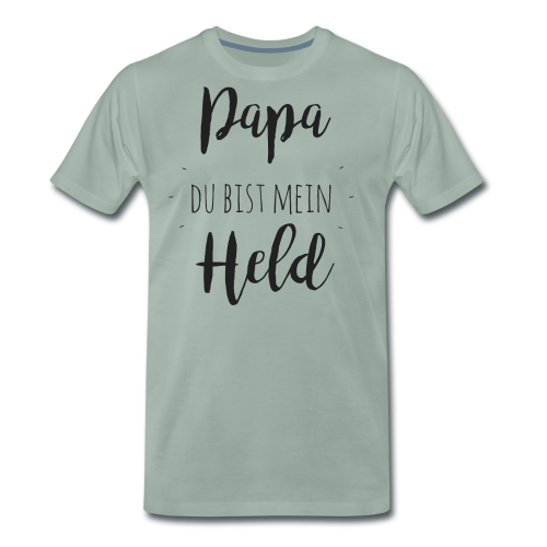 Papa du bist mein Held - Männer Premium T-Shirt