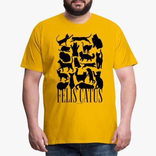 Felis Catus Black - Miesten premium t-paita