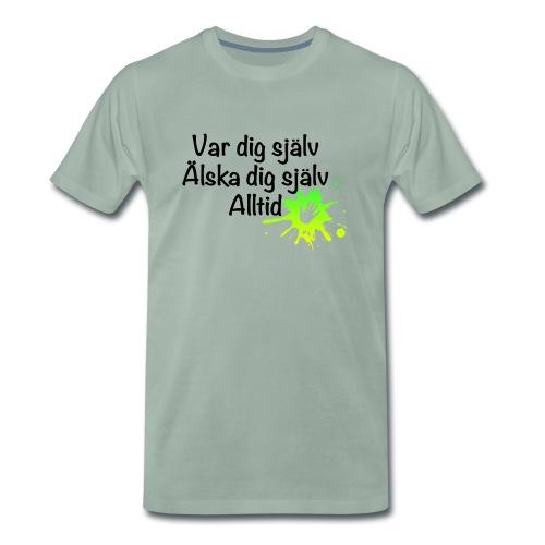 Forever Grön/gul - Premium-T-shirt herr