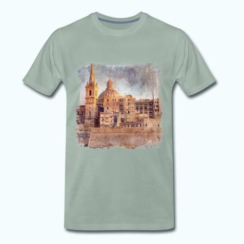 Valletta Malta Vintage Design - Men's Premium T-Shirt