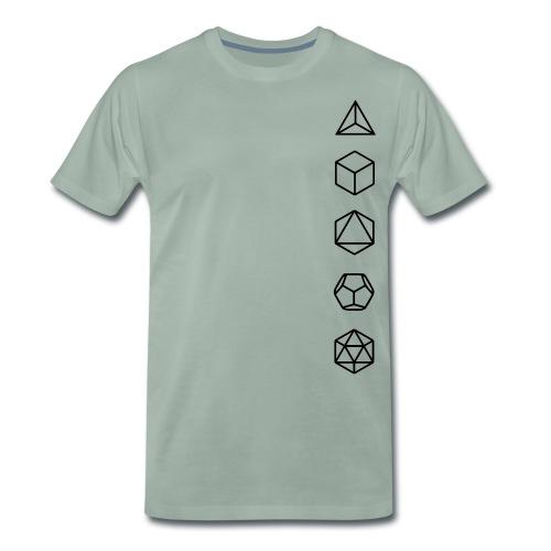 Platonische Körper Bausteine des Lebens Elemente - Männer Premium T-Shirt