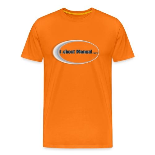I shoot manual slogan - Men's Premium T-Shirt