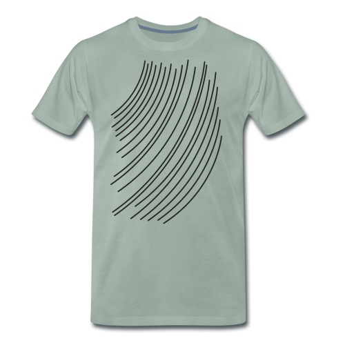 black lines - Men's Premium T-Shirt