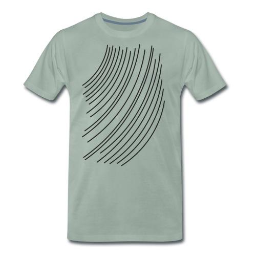 linee nere - Maglietta Premium da uomo