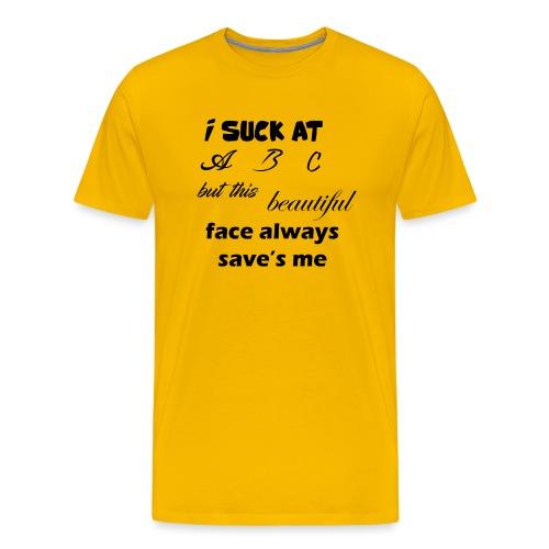 I Suck At ABC - Mannen Premium T-shirt