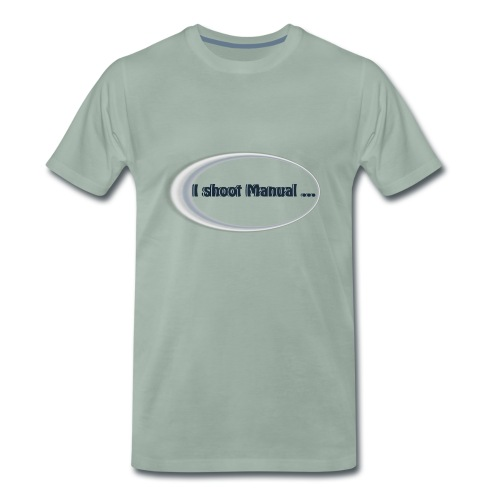 I shoot manual slogan - Men's Premium T-Shirt