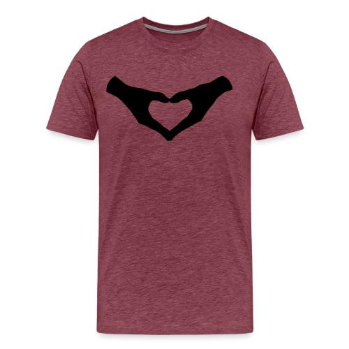 Herz Hände / Hand Heart 2 - Männer Premium T-Shirt
