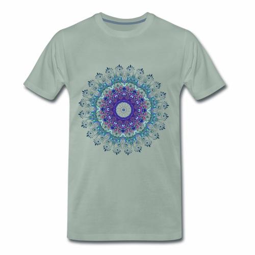Mørk lilla mandala - Herre premium T-shirt