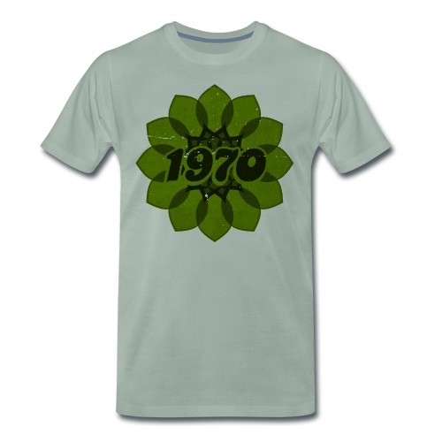 1970 retro flower - Männer Premium T-Shirt