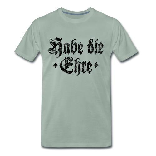 Habe die Ehre (Vintage/Schwarz) - Männer Premium T-Shirt