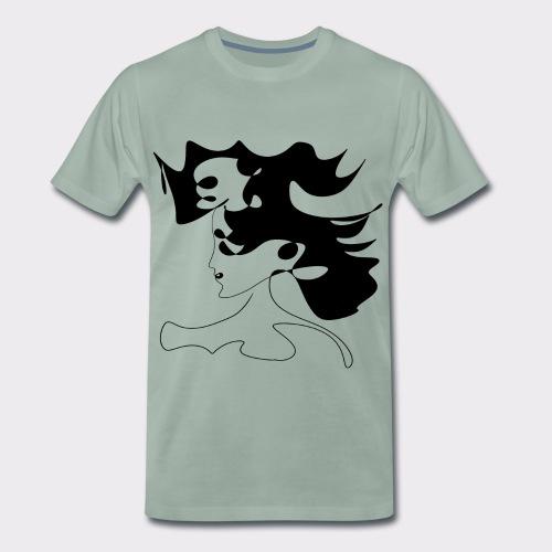 LINEART ALLES WIRD GUT FRAU ILLUSTRATION Line Art - Männer Premium T-Shirt