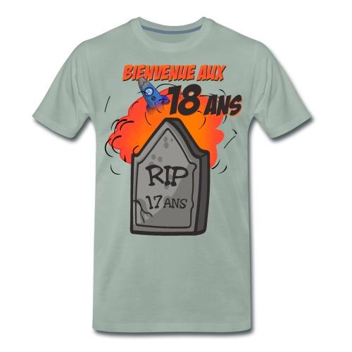 Bienvenue aux 18 ans - RIP 17 ans - T-shirt Premium Homme