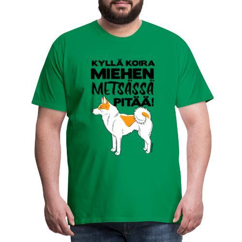 Pohjanpystykorva Metsaessae II - Miesten premium t-paita