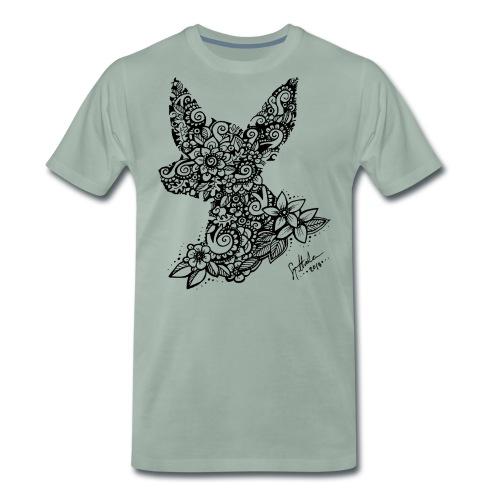 Mandala Dog Tiny - Miesten premium t-paita