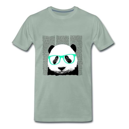 Panda met bril - Mannen Premium T-shirt