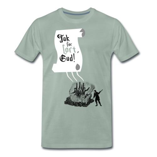 Tak for lort, Gud - Herre premium T-shirt