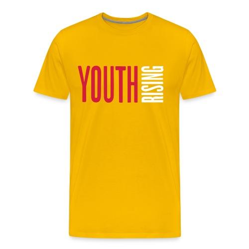 1br rev youth rising white - Men's Premium T-Shirt