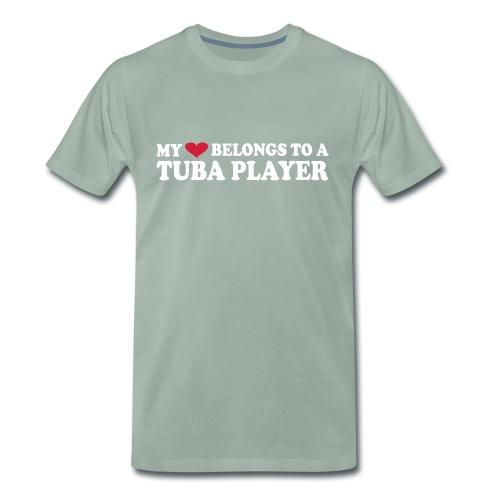 MY HEART BELONGS TO A TUBA PLAYER - Men's Premium T-Shirt