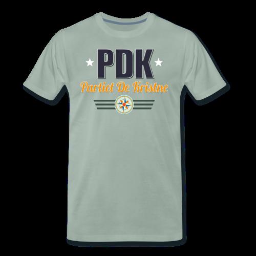 PDK på grågrønn - Premium T-skjorte for menn