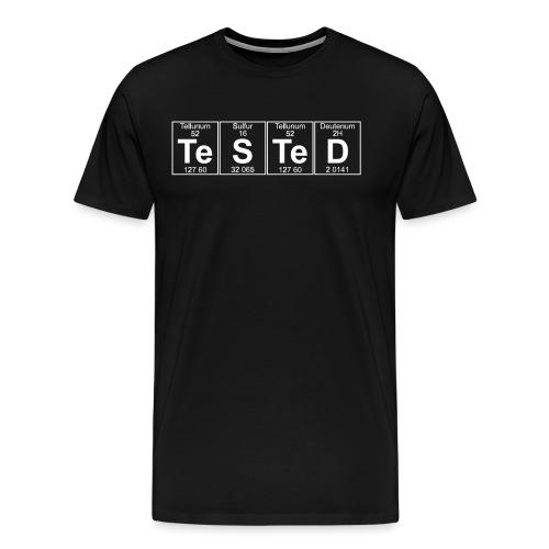Te-S-Te-D (tested) (small) - Men's Premium T-Shirt