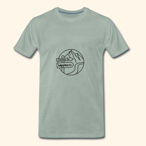 Footsteps for Happiness - Männer Premium T-Shirt