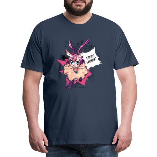 Free hugs (black lines) - Men's Premium T-Shirt