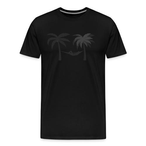 Hängematte mitzwischen Palmen - Männer Premium T-Shirt