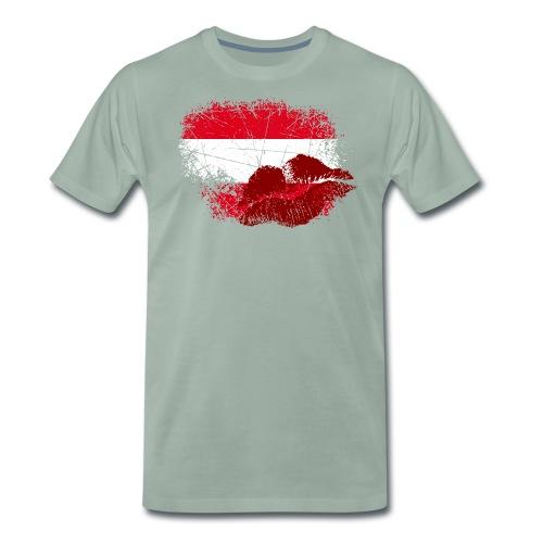 Fahne Österreich Kussmund/Lippen - Fanshirt - Männer Premium T-Shirt