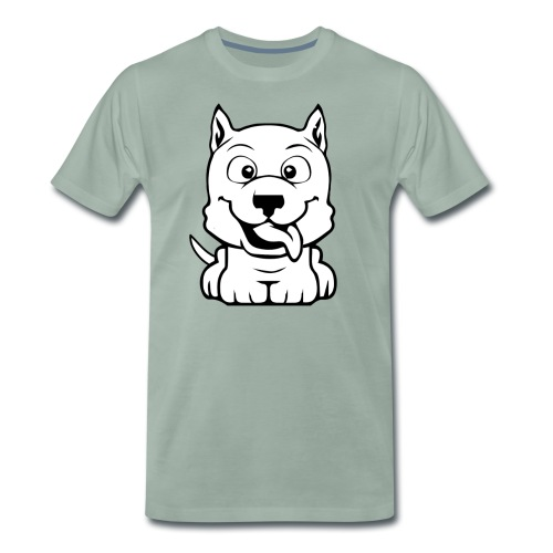 dog cartoon bully - T-shirt Premium Homme