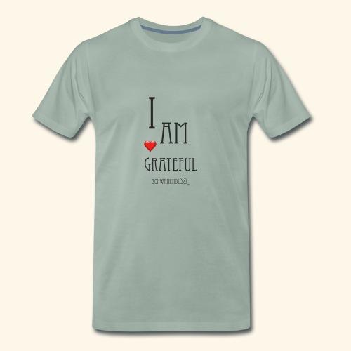T Shirt Druck Schwanenbussi I am grateful schwarz - Männer Premium T-Shirt