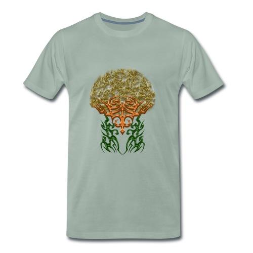 Golden Brain - Männer Premium T-Shirt