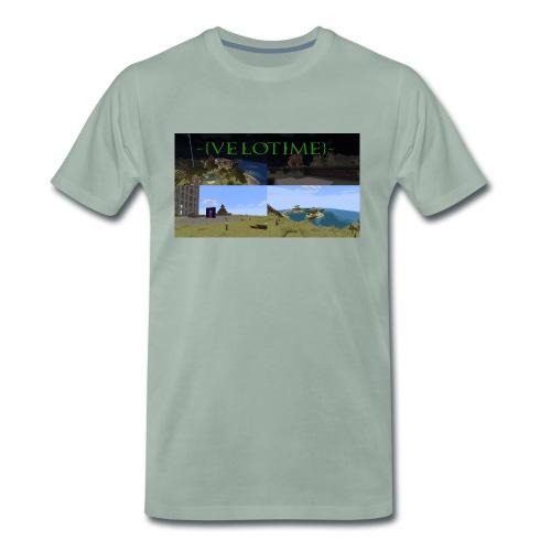 Velotime! - Premium-T-shirt herr
