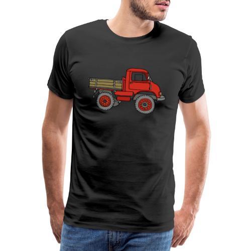 Roter Lastwagen, LKW, Laster - Männer Premium T-Shirt