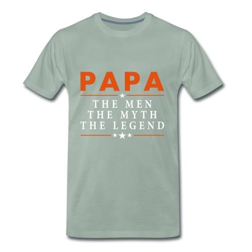 PAPA THE LEGEND - Men's Premium T-Shirt