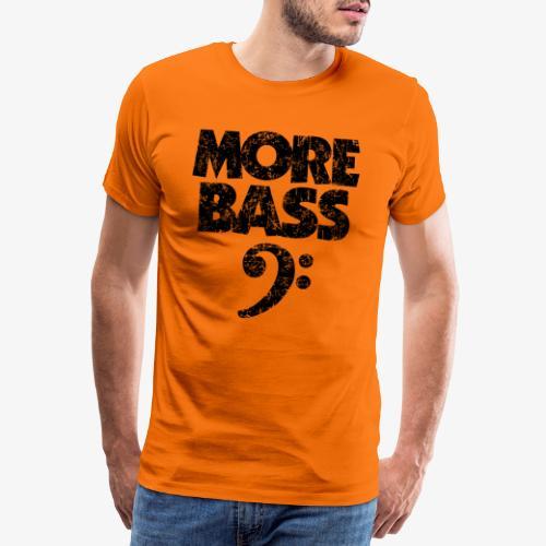 More Bass (Vintage/Schwarz) Bassisten - Männer Premium T-Shirt