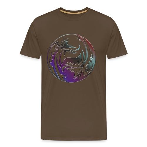 DRAGON Yin & Yang - Männer Premium T-Shirt