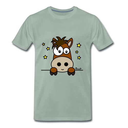 Poney, Pony Club, Sport, Équitation - T-shirt Premium Homme