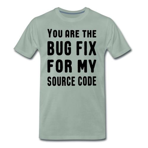 Programmierer Beziehung Liebe Source Code Spruch - Männer Premium T-Shirt