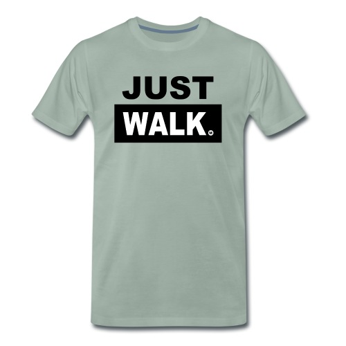 JUST WALK mannen colour - Mannen Premium T-shirt