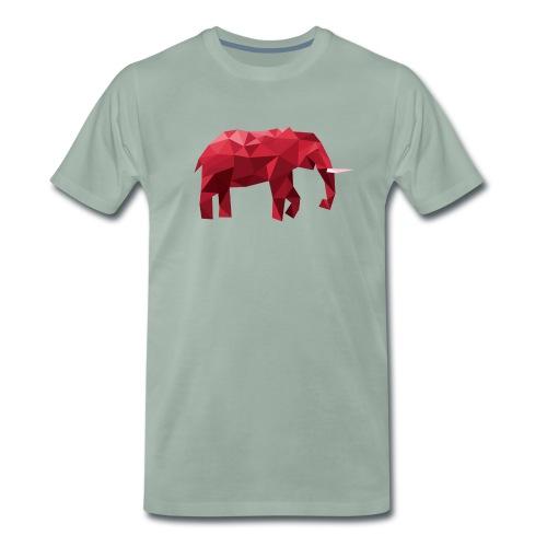 Elefant Vektor Rot - Männer Premium T-Shirt