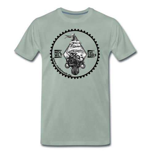 Nadelwelt Logo 2020 BW - Männer Premium T-Shirt