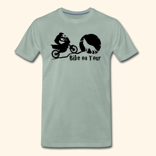 Bike on Tour Schwarz - Männer Premium T-Shirt