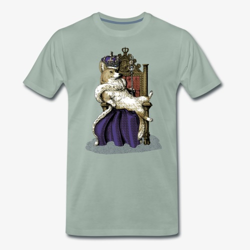 Queen Corgi - Men's Premium T-Shirt